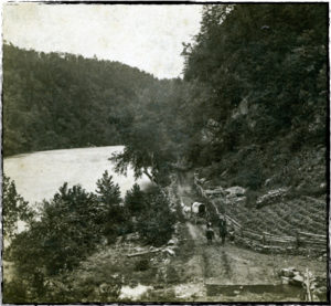 The Buncombe Turnpike along the French Broad River