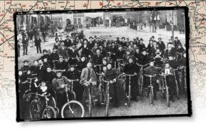 A bicycle club in Oxford NC circa 1900