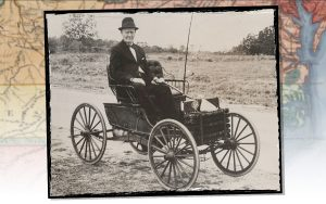 Gilbert S. Waters sits in his Buggymobile