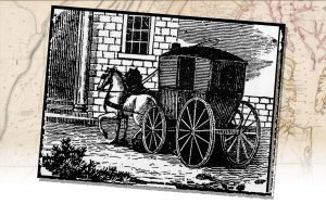 Drawing of an early stage coach