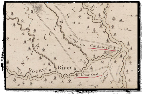 1770 map showing two roadside ordinaries