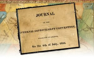 The cover page of The Journal of the Internal Improvements Convention, 1833