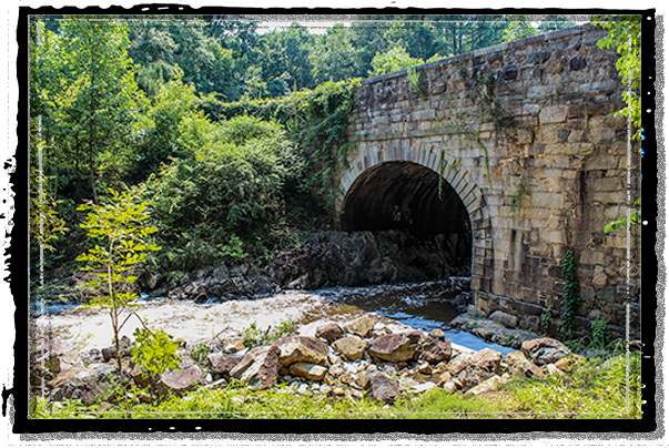 The aqueduct on the historic Roanoke Canal