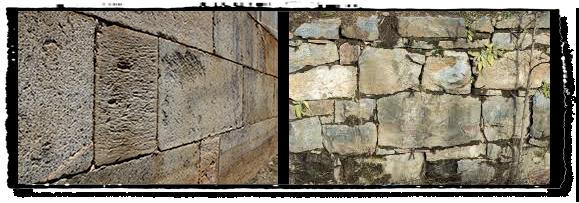 Rock work on the Roanoke Canal