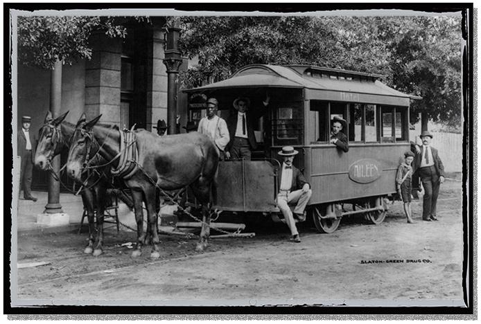 A horse trolley in Washington DC