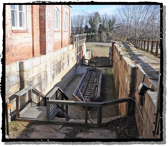 A preserved lock on the Roanoke Canal