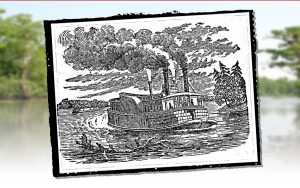 Illustration of a steamboat on the Cape Fear River