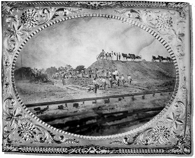Work on the Southern Railroad in 1870