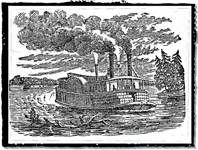 A steamboat on the Cape Fear River
