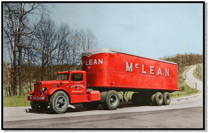 An early McLean Trucking Company truck