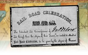 An invitation to an 1854 Railroad Celebration