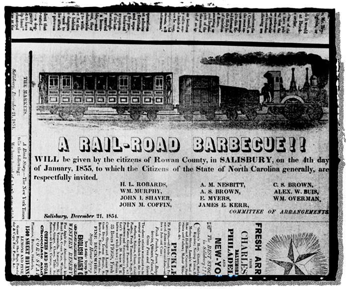 Invitation to a Railroad Barbecue in 1854