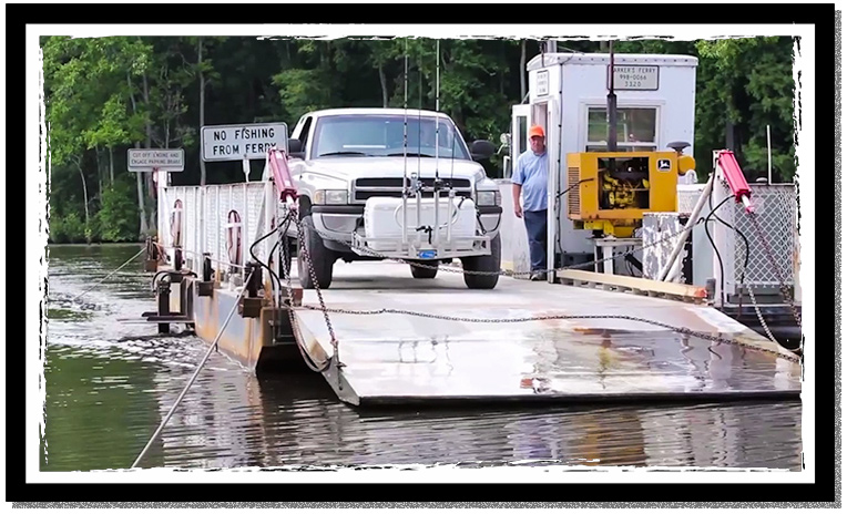 The sans Souci ferry in Bertie County NC
