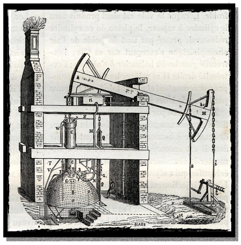 Diagram of the Newcomen steam engine