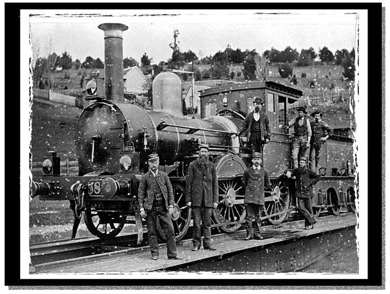 A British steam engine without a cowcatcher