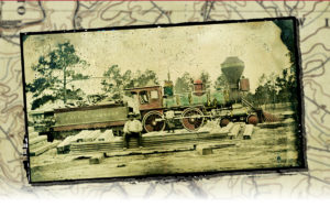 The North Carolina Railroad steam engine Paul C. Cameron, mid-1860s