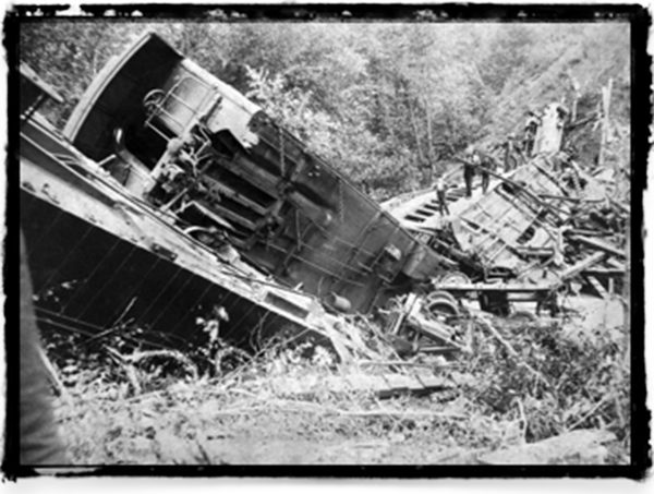 Wreckage below Bostian Bridge