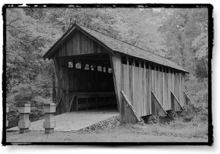 The Pisgah bridge is one of the few remaining covered bridges in NC.